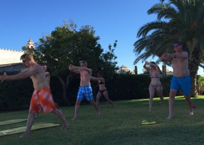 Group Training in the Sun